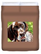 German Short Haired Pointer Duvet Cover