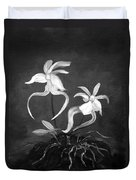 Ghost Orchids Duvet Cover