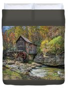 Glade Creek Grist Mill Duvet Cover