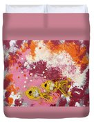 2 Gold Fish Duvet Cover