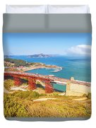 Golden Gate Bridge Vista Point Duvet Cover