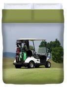 Golfing Golf Cart 04 Duvet Cover