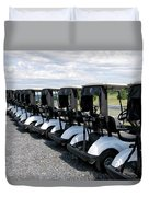 Golfing Golf Carts Duvet Cover