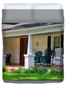 Grand Old House Porch Duvet Cover