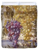 Grapes And Olives Duvet Cover