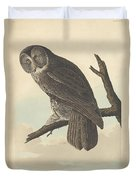 Great Cinereous Owl Duvet Cover