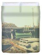 Green Boat Duvet Cover