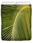 Green Palm Leaf Duvet Cover