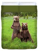 Grizzly Bear Arctos Ursus Duvet Cover