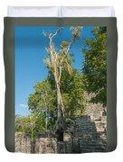 Grupo Coba At The Coba Ruins  Duvet Cover
