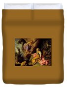 Hagar And The Angel Duvet Cover