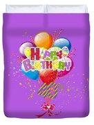 Happy 40th Birthday Duvet Cover