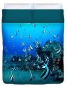Hawaiian Reef Scene Duvet Cover