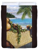 Hawaiian Still Life Panel Duvet Cover by Sandra Blazel - Printscapes