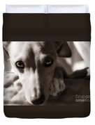 Heart You Italian Greyhound Duvet Cover