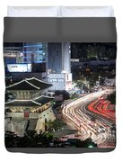Heunginjimun Gate In Seoul Duvet Cover