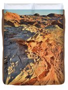 High Above Wash 3 In Valley Of Fire Duvet Cover
