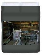 Historic Log Trappers Cabin Duvet Cover