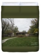 Historic Mormon Cabin Duvet Cover