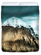Holy Kailas East Slop Himalayas Tibet Yantra.lv Duvet Cover