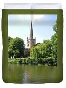 Holy Trinity Church At Stratford-upon-avon Duvet Cover