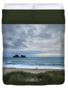 Holywell Bay Sunset Duvet Cover