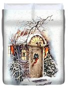 Home For Christmas Duvet Cover