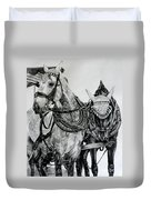 2 Horses Of Rothenburg 2000usd Duvet Cover