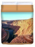 Horseshoe Bend Colorado River Arizona Usa Duvet Cover