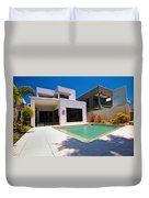 House And Pool Duvet Cover