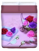 How To Make Preservrd Flower And Clay Flower Arrangement, Colorf Duvet Cover