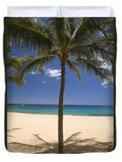 Hulopoe Beach, Palm Tree Duvet Cover