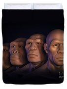 Human Evolution Duvet Cover