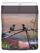 2 Hummingbirds Duvet Cover