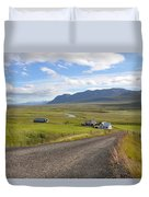 Iceland Landscape Duvet Cover by Ambika Jhunjhunwala