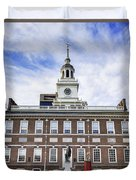 Independence Hall Philadelphia Duvet Cover