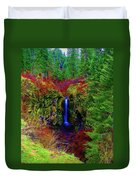 Indian Canyon Waterfall Duvet Cover