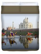 India's Taj Mahal Duvet Cover
