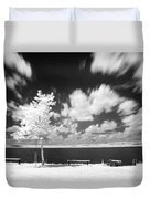 Infrared Landscape Duvet Cover