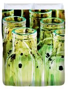 Iridescent Bottle Parade Duvet Cover