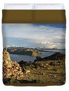 Isla De Sol Bolivia Duvet Cover