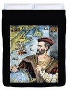 Jacques Cartier (1491-1557) Duvet Cover