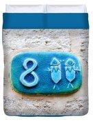 Jaffa, Pisces Zodiac Street Sign  Duvet Cover