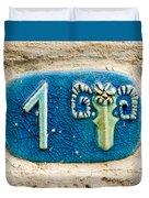 Jaffa, Zodiac Street Sign  Duvet Cover