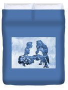 Jane And Tarzan-blue Duvet Cover