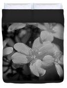 Jatropha Blossoms Painted Bw Duvet Cover