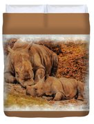 Jazi And Mom Duvet Cover
