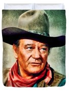 John Wayne, Hollywood Legend By John Springfield Duvet Cover