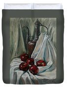 Jug With Apples Duvet Cover
