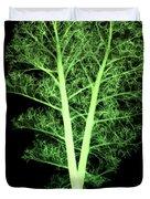 Kale, Brassica Oleracea, X-ray Duvet Cover